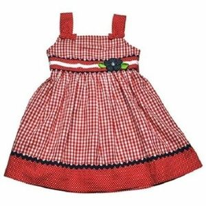 Samara Red Checked Gingham Sundress 24 mo.